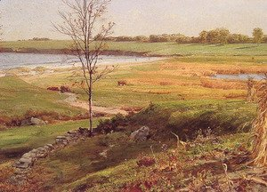 William Trost Richards - Salt Marsh By The Sea