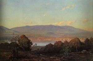 William Trost Richards - Sundown at Centre Harbor, New Hampshire 1874