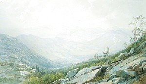 William Trost Richards - The Mount Washington Range  From Mount Kearsarge